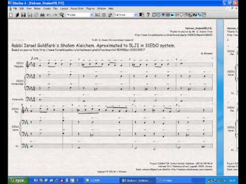 Sheet Music for Israel Goldfarb's Shalom Aleichem