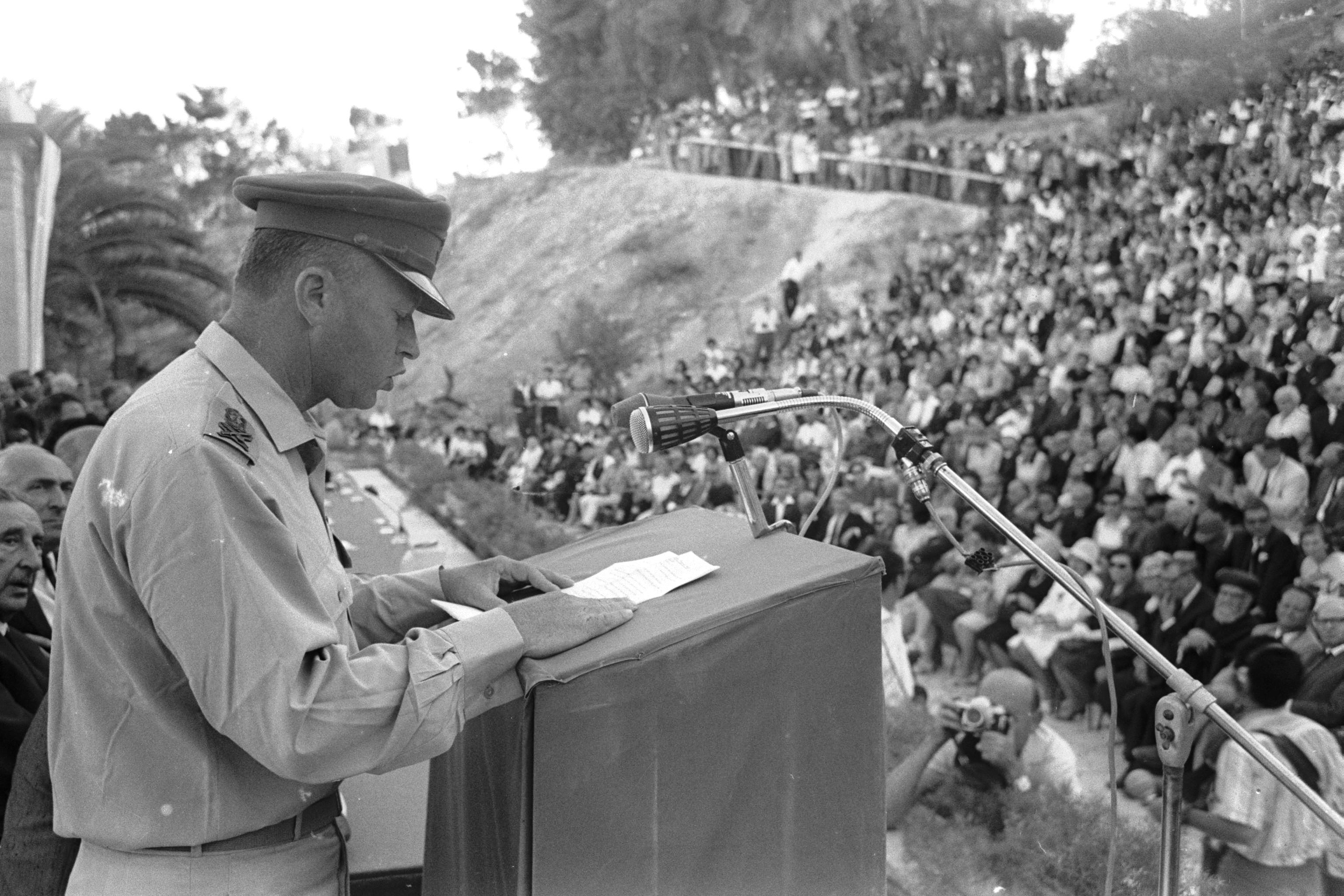 יצחק רבין- נאום הר הצופים (1967)