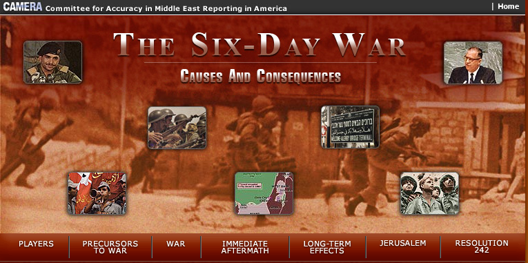 CAMERA: The Six Day War Website