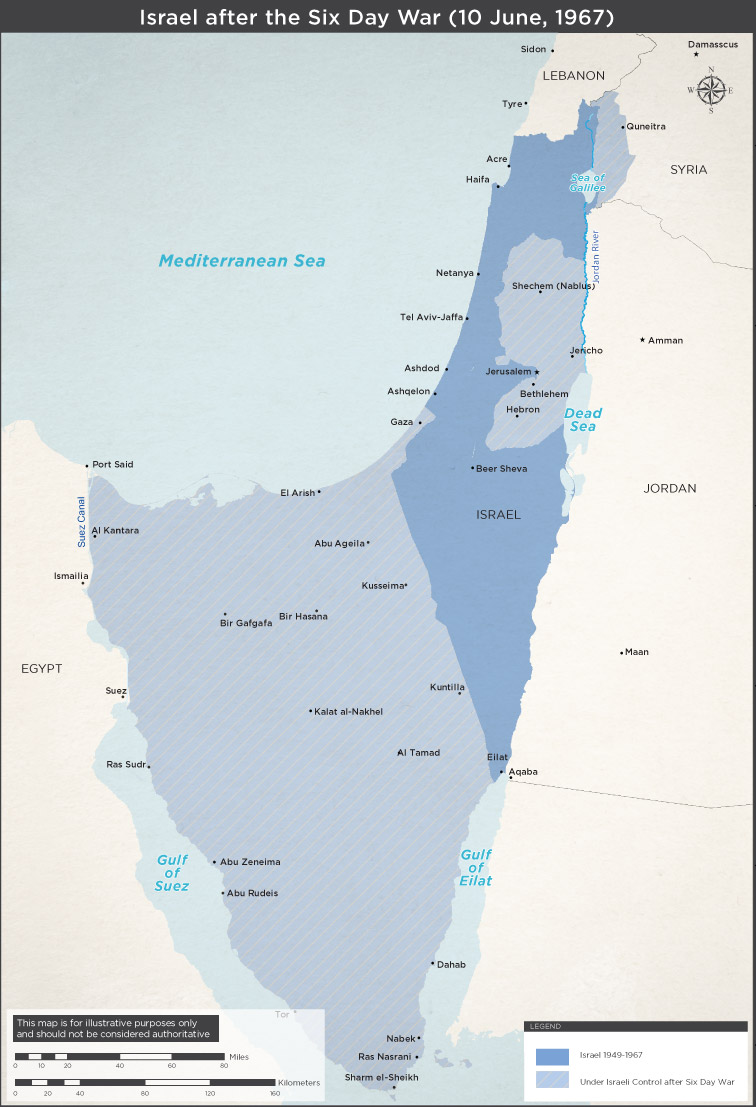 Six Day War Maps