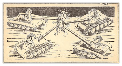 Arab Political Six Day War Cartoons