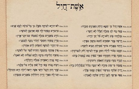 A Complete Guide to Eishet Chayil