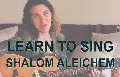Traditional Ashkenazi Shalom Aleichem with Lyrics
